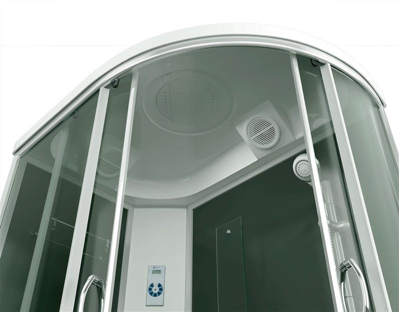 Dušo kabina 4512TPL - C4 80x120 (7dal) kairinė, aukšta