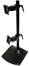 Ergotron Serie DS100 Double Arm Vertical Monitor Stand Black