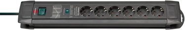 Brennenstuhl Premium-Line Extension Socket 6-way Black 1.8m