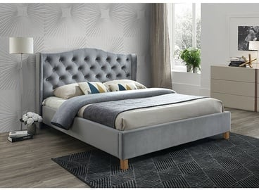Signal Meble Aspen Bed Velvet 140x200cm Grey