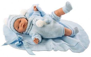 Lloerns Doll Crying With A Blanket Blue 38cm 38937