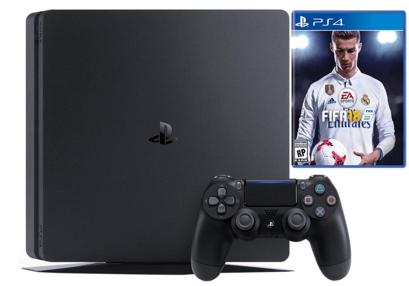 Sony Playstation 4 (PS4) Slim 500GB Black + Fifa 18