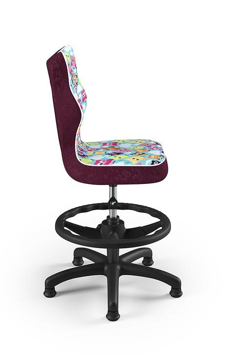 Детский стул Entelo Petit ST32, черный/многоцветный, 370x350x950 мм