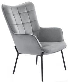Fotelis Halmar Castel l Grey/Black, 71x97x79 cm