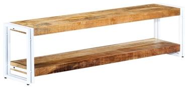 TV galds VLX Solid Mango Wood, brūna/balta, 1500 mm x 300 mm x 400 mm