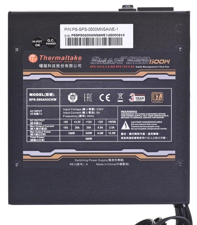 Thermaltake Smart SE2 500W PS-SPS-0500MNSAWE-1