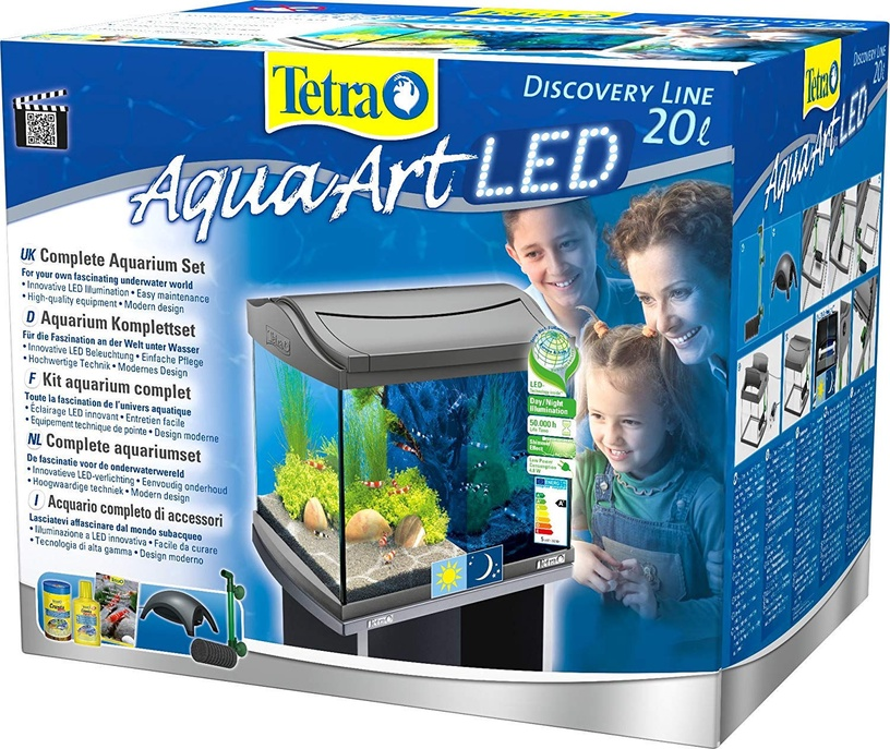 Akvariumas Tetra AquaArt LED Shrimps, juodas, 20 l
