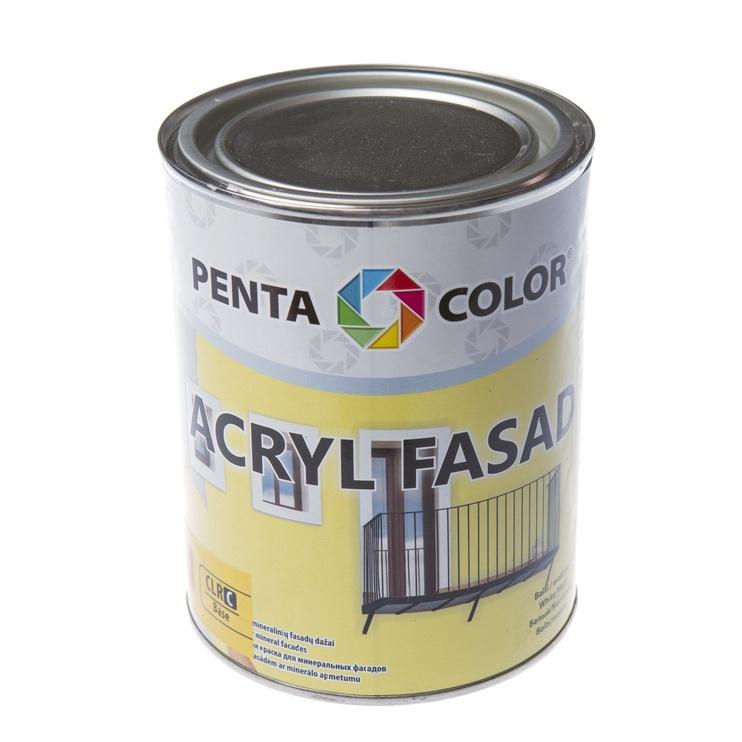 Krāsa fasādēm Pentacolor Acryl Fasad, 1 l