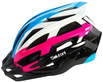 Шлем Volare Salutoni, синий/белый/черный/розовый, 540 - 580 мм