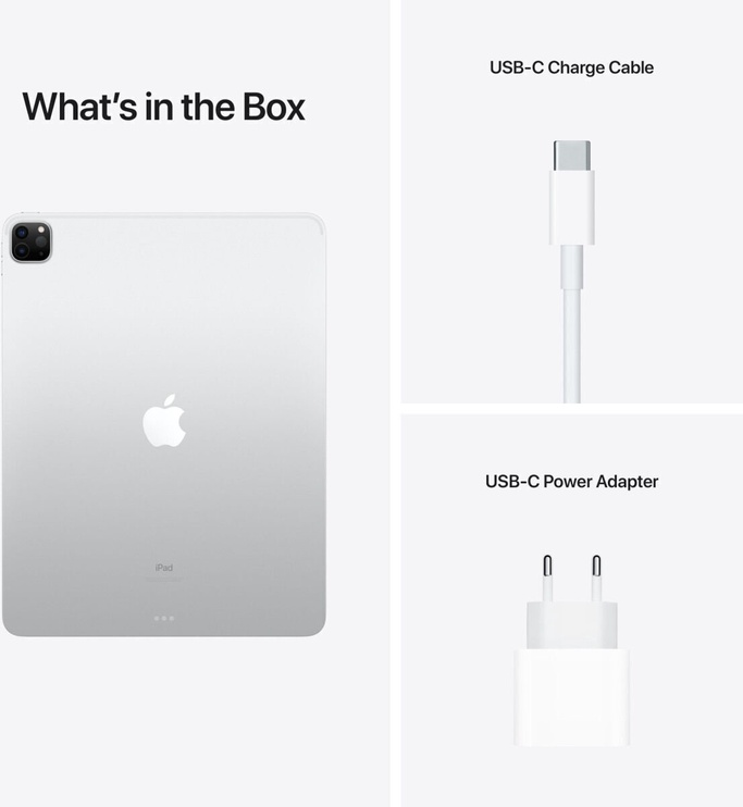 Планшет Apple iPad Pro 12.9 Wi-Fi (2021), серебристый, 12.9″, 8GB/128GB