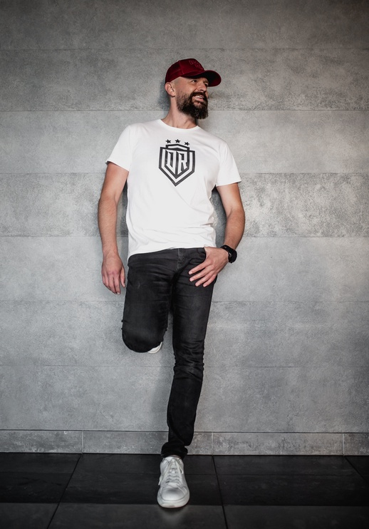 Футболка с короткими рукавами Dinamo Rīga Men T-Shirt White/Black XXXL