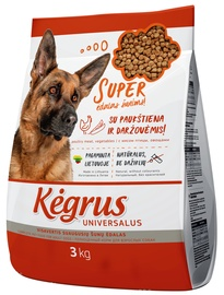 Kegrus Universal Adult Dog Food Poultry & Vegetables 3kg