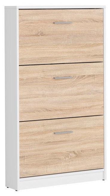 Apavu plaukts Black Red White Nepo Plus White/Sonoma Oak, 700x175x1200 mm