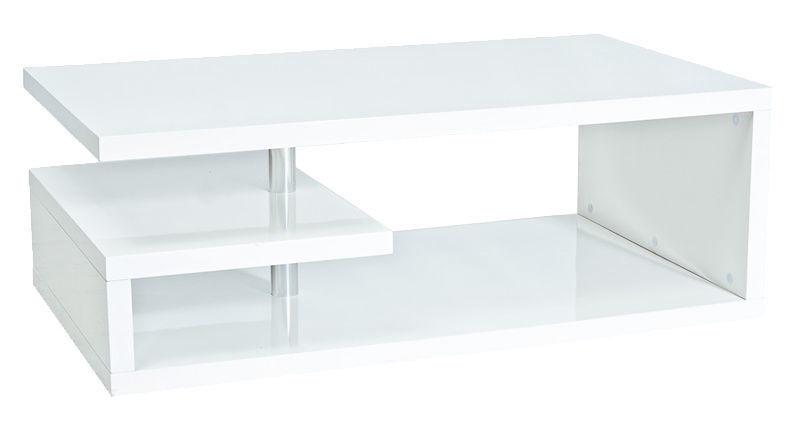 Kafijas galdiņš Signal Meble Modern Tierra Glossy White, 1200x700x430 mm