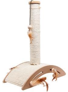 Когтеточка для кота Karlie Flamingo Sisal+Toy Ella, 40x21x52 см