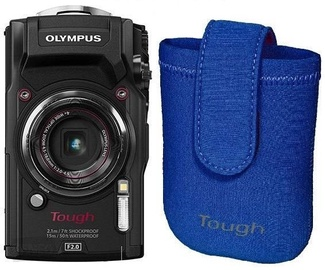 Olympus TG-5 Black + Neoprene Case Blue