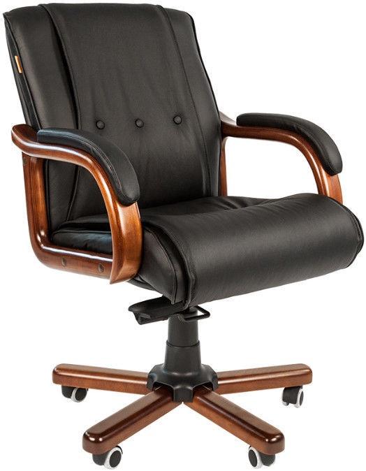 Chairman Chair 653 M Leather Black