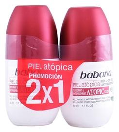 Babaria Atopic Skin Deodorant Roll On With Aloe Vera 2 x 50ml