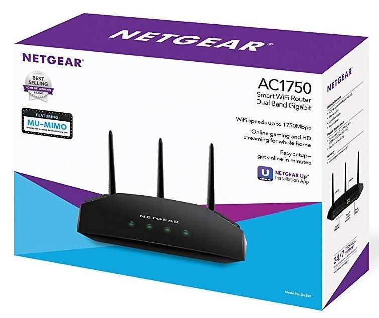 Netgear AC1750 Smart WiFi Router R6350-100PES