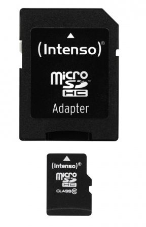 Intenso 16GB Micro SDHC Class 10 + Adapter