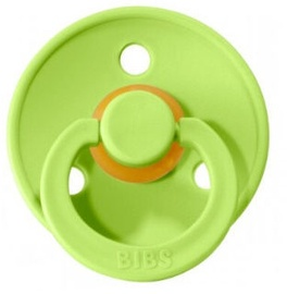 Bibs Colour Round Pacifier 2pcs Clear Water/Lime 6-18m