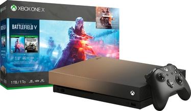 Microsoft Xbox One X 1TB + Battlefield V Gold Rush Special Edition Bundle