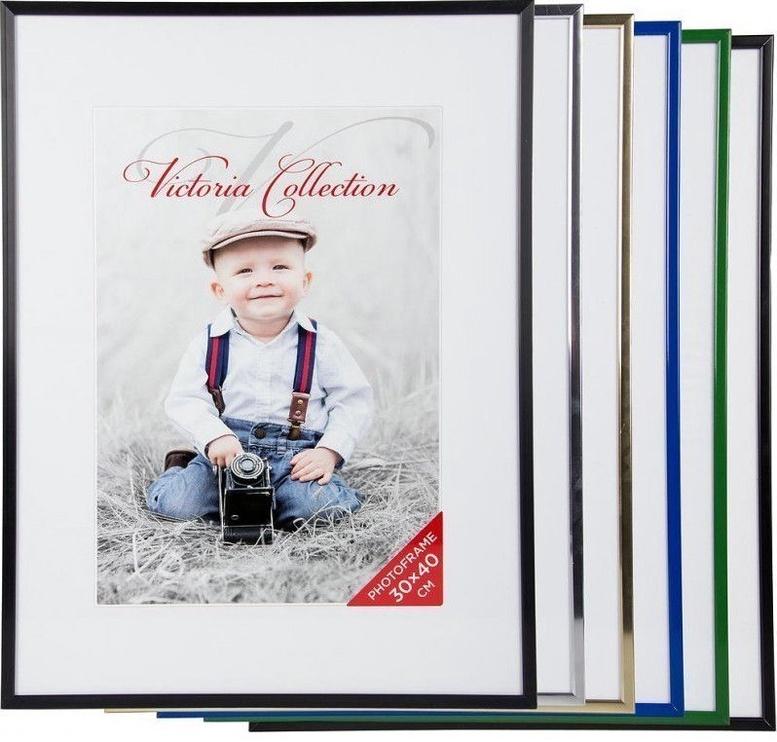 Victoria Collection Photo Frame Aluminium 30x40cm Black Matte