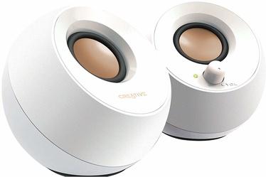Creative Pebble 2.0 USB Desktop Speakers White