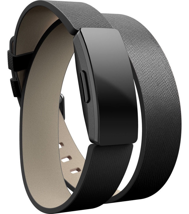 Fitbit Inspire Horween Leather Double Wrap Black