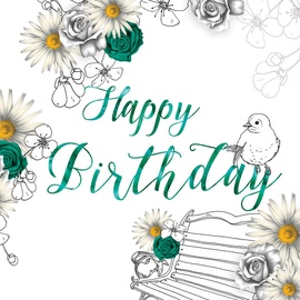 Clear Creations Green & Yellow Birthday Card CL1405