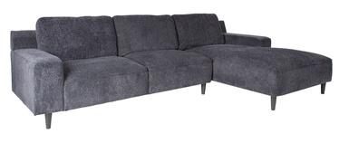 Угловой диван Home4you Hilde Blue/Black, правый, 288 x 173 x 88 см