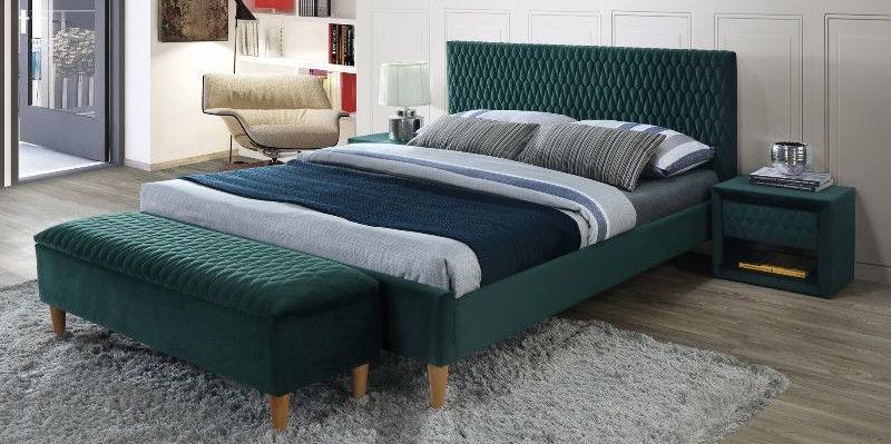 Gulta Signal Meble Modern Azurro Velvet Green, 206x165 cm