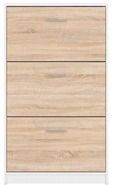 Batų spintelė Black Red White Nepo Plus White/Sonoma Oak, 700x175x1200 mm