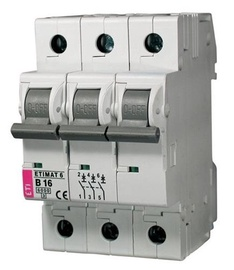Automatinis jungiklis Eti MAT6, 3P, C, 20A, 6kA