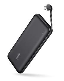 Зарядное устройство - аккумулятор Aukey, 10000 мАч, черный