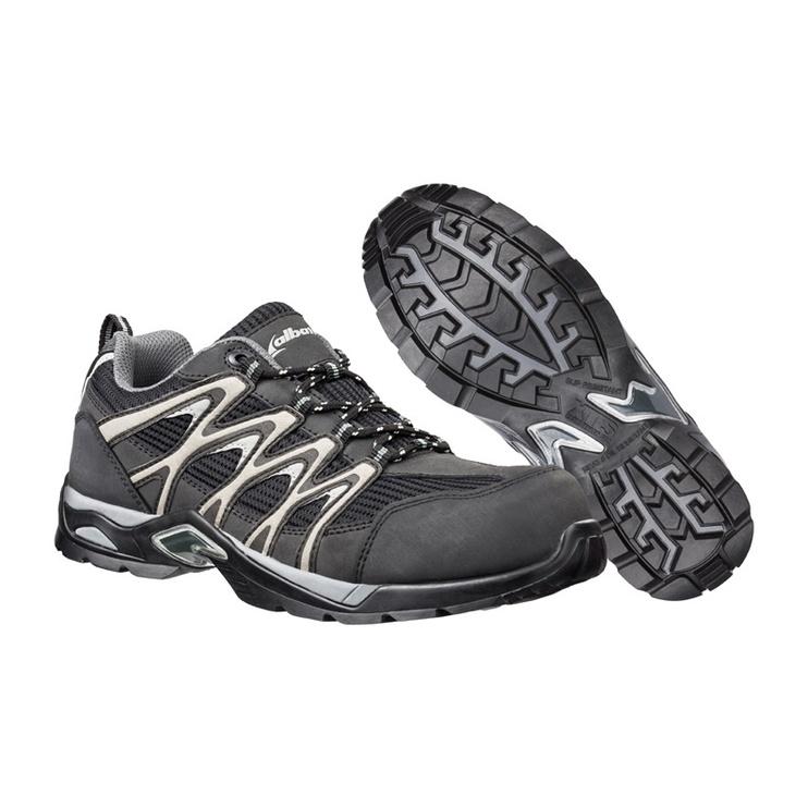Vyriški darbiniai batai Albatros, be aulo, juodi - pilki, 43 dydis