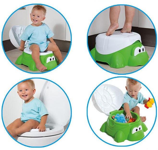 Laste WC pott Molto Turtle 4in1 16705, valge/roheline