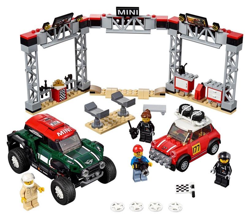 Конструктор LEGO Speed Champions 1967 Mini Cooper S Rally and 2018 MINI John Cooper Works Buggy 75894 75894, 481 шт.