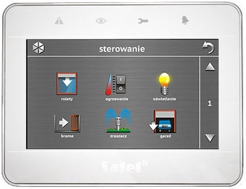 Satel INT-TSG-WSW Touchscreen Keypad