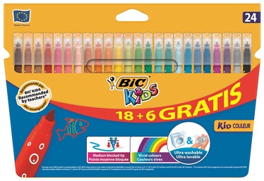 BIC Kids Medium Multicolour Felt Pen 24pcs 841803