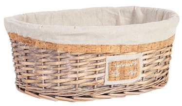 Home4you Willi Cork Basket L 46x34x18cm Light Brown