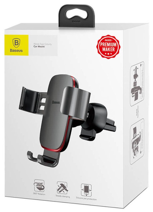 Baseus Metal Age Gravity Car Mount Gray