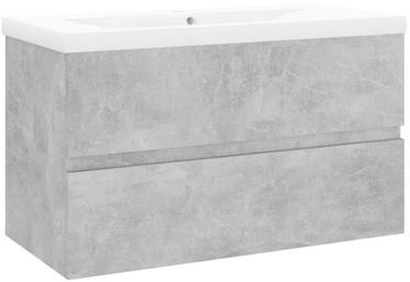 Шкаф для раковины VLX 3071553, серый, 38.5 x 80 см x 45 см