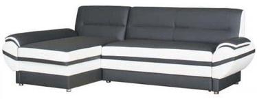 Bodzio Livonia Left Corner Folding Sofa Eco Leather Graphite/White