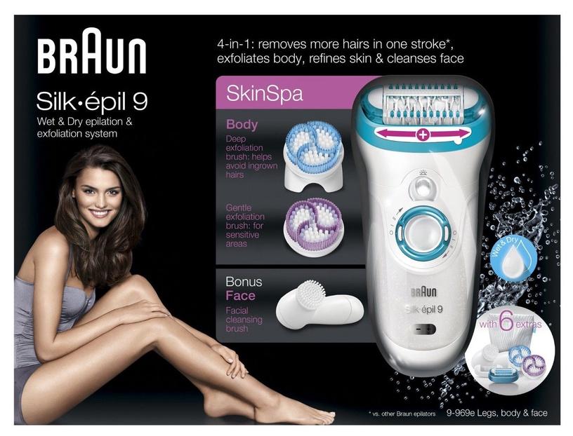 Epiliatorius Braun Silk Epil 9 SkinSpa 9-969