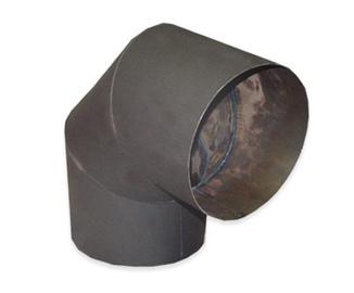 Dūmtraukių alkūnė ABX, 200 mm, 1.5 mm, 90°