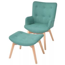 Tugitool VLX With Footstool 244665, roheline, 68 cm x 57 cm x 88 cm