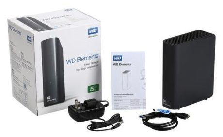 Жесткий диск Western Digital Elements, HDD, 4 TB, черный