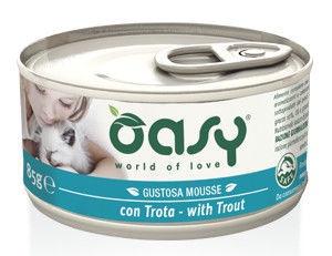 Oasy Adult Cat Wet Mousse w/ Trout 85g