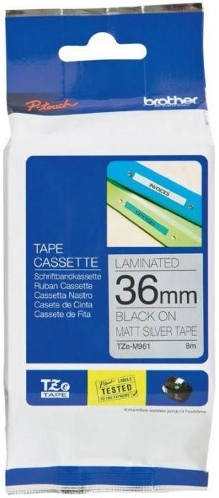 Этикет-лента для принтеров Brother TZe-M961, 800 см